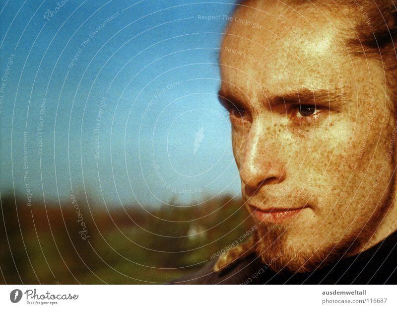 intens Analog Masculine Portrait photograph Emotions Human being color Detail Exterior shot