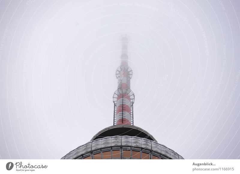 red white red white... Telecommunications Sky Spring Autumn Bad weather Fog Rain Berlin Capital city Downtown Places Manmade structures Antenna