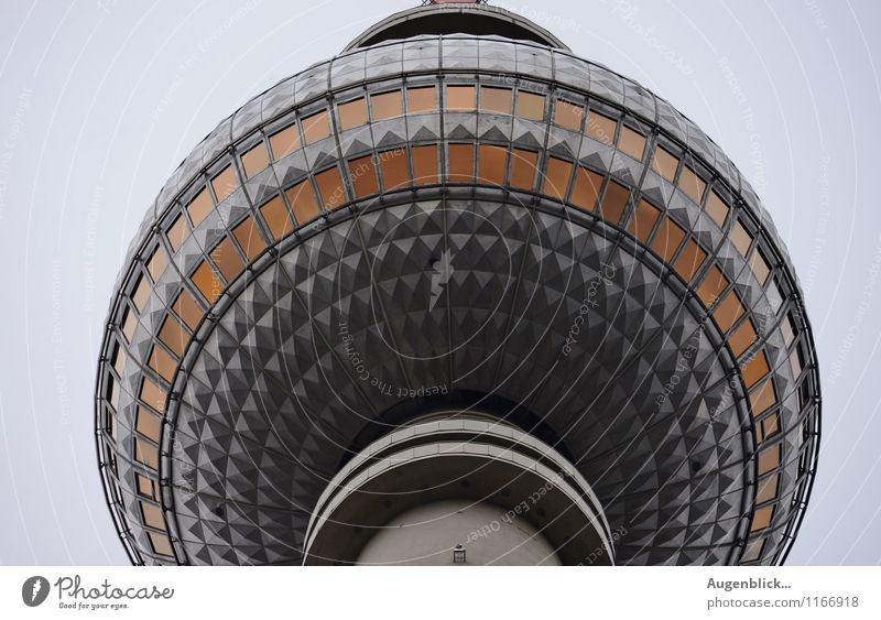 Berlin television tower... TV set Telecommunications Capital city Downtown Places Manmade structures Tourist Attraction Landmark Glass Steel Sphere Emotions