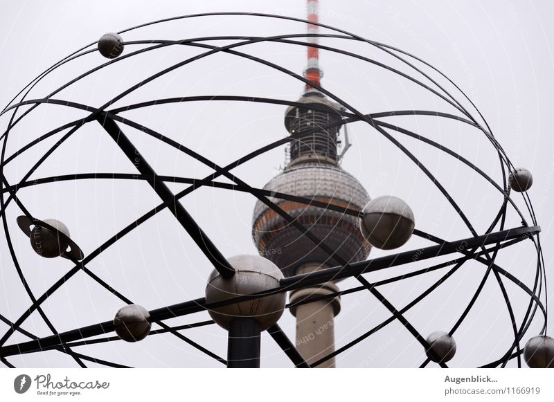 Vacation & Travel Gray Time Metal Contentment Clock Glass Telecommunications Concrete Tower Manmade structures Landmark Capital city TV set Downtown