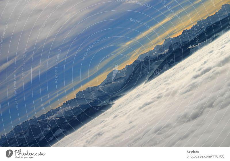 *sigh* Fog Sea of fog Clouds Winter Cold Panorama (View) Glarner Alpes Longing Enchanting Wanderlust Switzerland Mountain brooktel Blue Alps Vantage point Snow