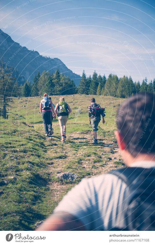 wanderlust Joy Life Leisure and hobbies Vacation & Travel Tourism Trip Summer Sun Mountain Hiking Sports Climbing Mountaineering Human being Masculine Feminine