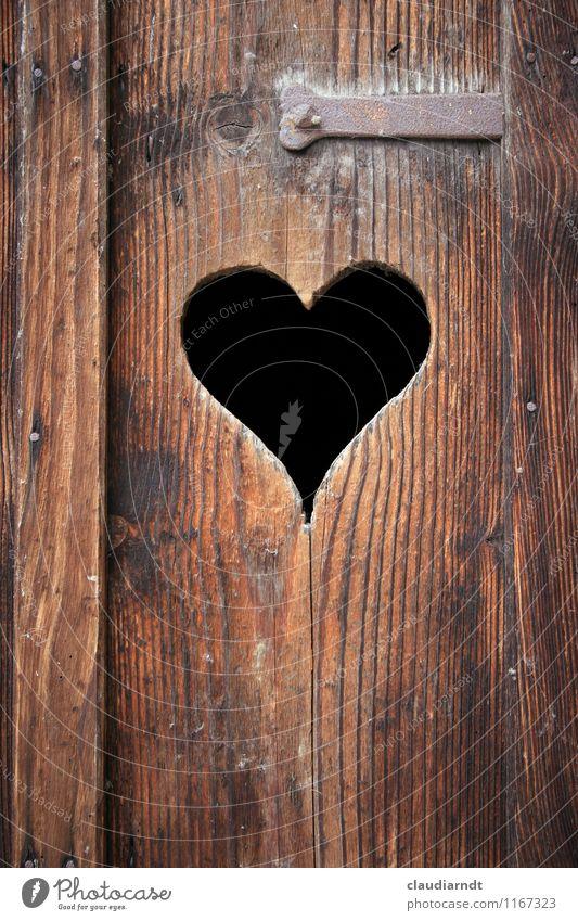 little place Door Wood Sign Heart Old Brown Toilet Wooden door toilet door Latrine Love Hollow Heart-shaped Digestive system constipation Intestine Needs