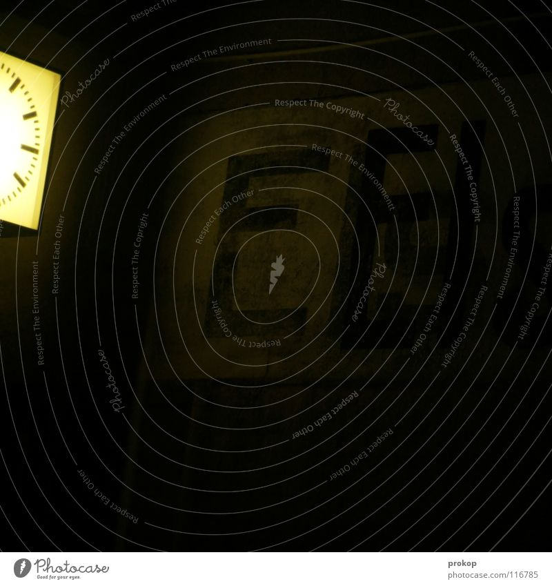 Dark Sadness Lighting Death Time Lamp Clock Characters Walking Transience Sign Letters (alphabet) Grief Thin Creepy Escape