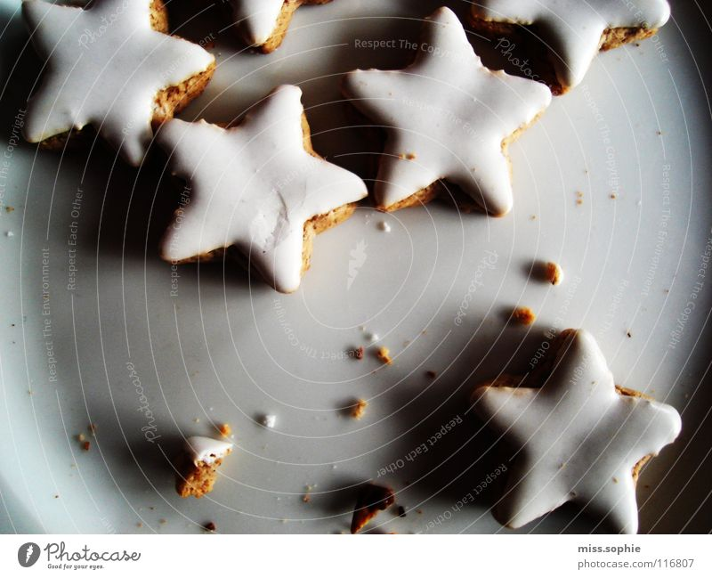 Christmas & Advent White Relaxation Contentment Nutrition Cooking & Baking Sweet Star (Symbol) Delicious Well-being Cookie Plate Baked goods Cozy Sugar Lust