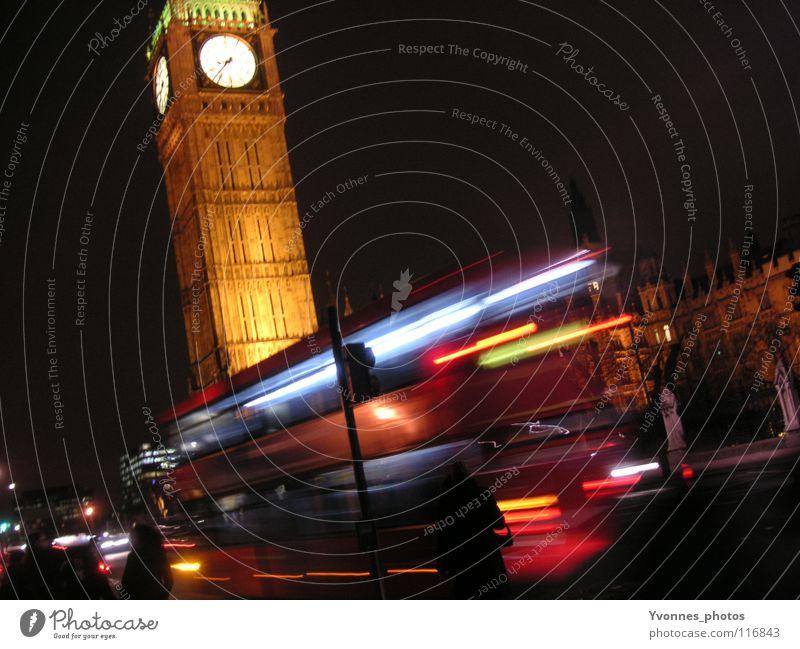 City Vacation & Travel Street Dark Art Wait Transport Speed Europe Clock Skyline Monument Traffic infrastructure London Bus