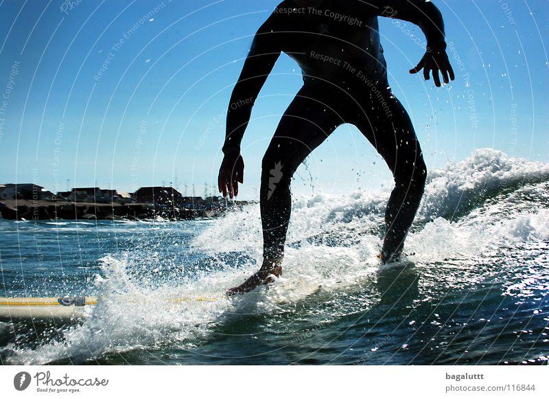 Take off Surfboard Extreme Waves Ocean Aquatics Horizon Coast Beach Vacation & Travel Green White Mystic Environment Emotions Refreshment Clouds Moody