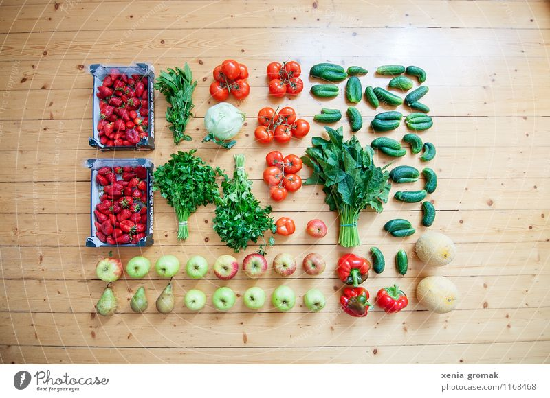 Fruit, vegetables, healthy nutrition Food Vegetable Lettuce Salad Apple Nutrition Picnic Organic produce Vegetarian diet Diet Fasting Beautiful Healthy