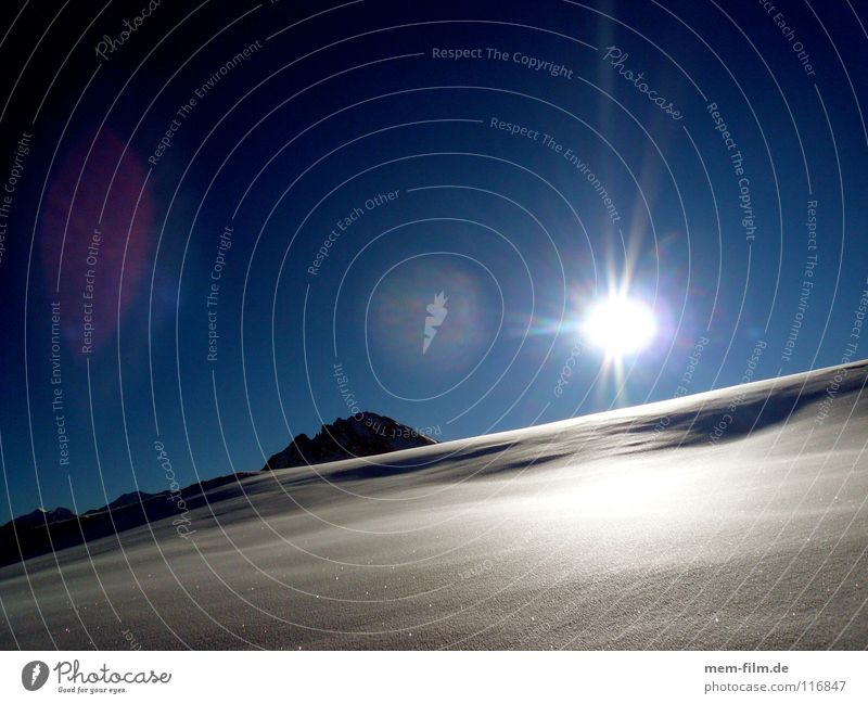 Summer Sun Winter Cold Mountain Snow Ice Peak Alps Hot France Blue sky December Untouched Winter vacation Aperture