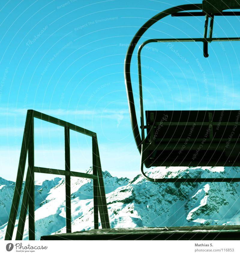 Sky Blue White Sun Clouds Winter Mountain Lighting Snow Lake Tourism Peak Austria Station Blue sky Skier