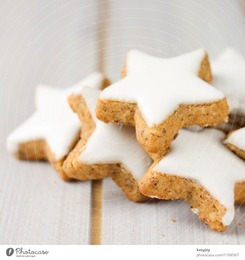 cinnamon stars Star cinnamon biscuit Christmas biscuit Christmas & Advent Cinnamon December Baked goods Seasons Bakery shop Macro (Extreme close-up) Table
