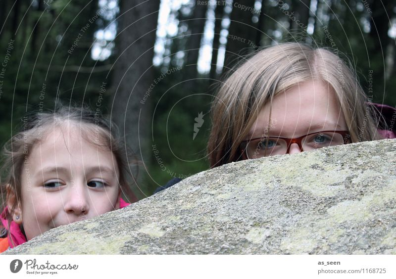In Sherwood Forest. Girl Infancy Youth (Young adults) Life Face Eyes 2 Human being 8 - 13 years Child 13 - 18 years Actor Environment Nature Rock Stone Observe