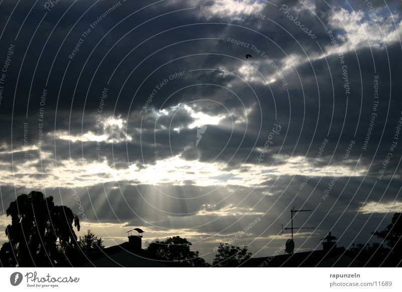Sky Sun Clouds Radiation Dramatic Wonder