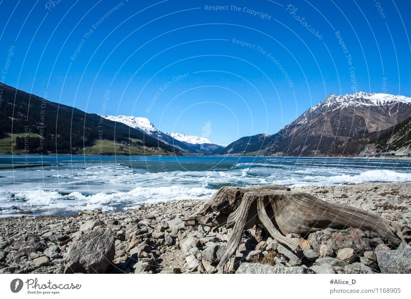 Lago di Resia Vacation & Travel Tourism Trip Mountain Environment Nature Landscape Elements Water Sky Spring Beautiful weather Ice Frost Alps Peak