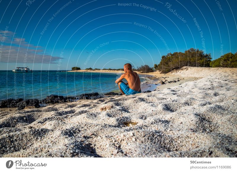 Human being Nature Vacation & Travel Youth (Young adults) Man Summer Young woman Sun Ocean Far-off places Beach Adults Coast Freedom Lifestyle Horizon