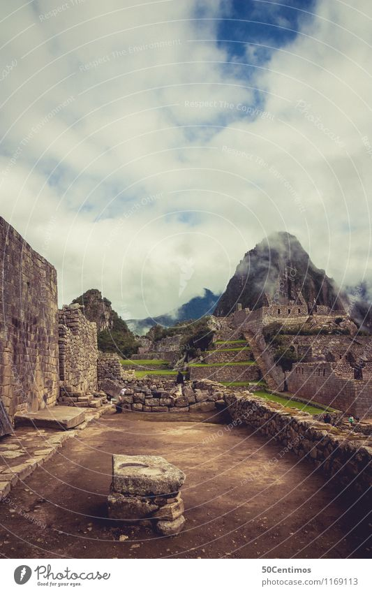 Inca ruins in Cusco - Machu Picchu Vacation & Travel Tourism Trip Adventure Far-off places Sightseeing City trip Mountain Environment Nature Landscape Clouds
