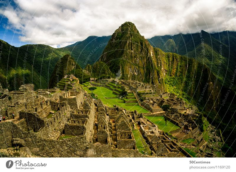 The Inca City Machu Picchu Vacation & Travel Tourism Trip Adventure Far-off places Freedom Sightseeing City trip Mountain Clouds Meadow Forest Virgin forest