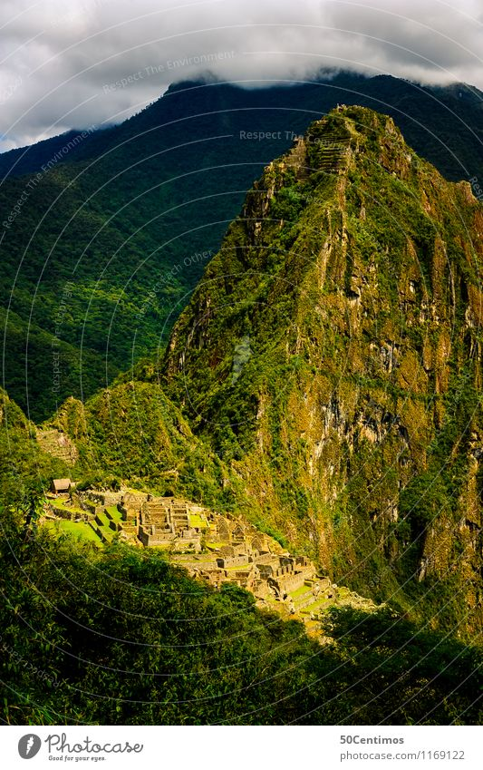 over the Machu Picchu Vacation & Travel Tourism Trip Adventure Far-off places Freedom City trip Mountain Environment Nature Landscape Clouds Meadow Forest