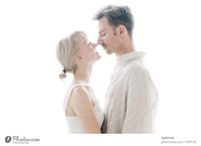 couple photo Beautiful Healthy Harmonious Well-being Relaxation Calm Human being Young woman Youth (Young adults) Young man Couple Partner Life 18 - 30 years