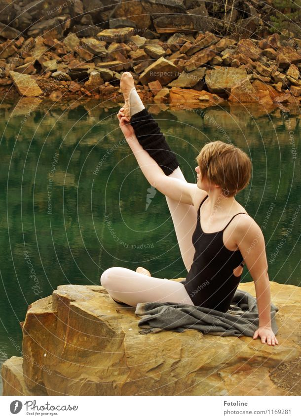 Human being Woman Nature Youth (Young adults) Water Young woman Hand Landscape Adults Environment Feminine Hair and hairstyles Legs Head Feet Rock