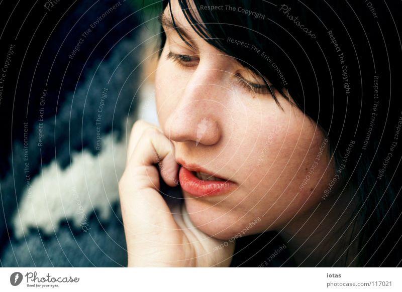 m. Woman Lips Physics Beautiful To talk Think Flat (apartment) Communicative Portrait photograph Silhouette Loneliness Feminine Interesting Dream
