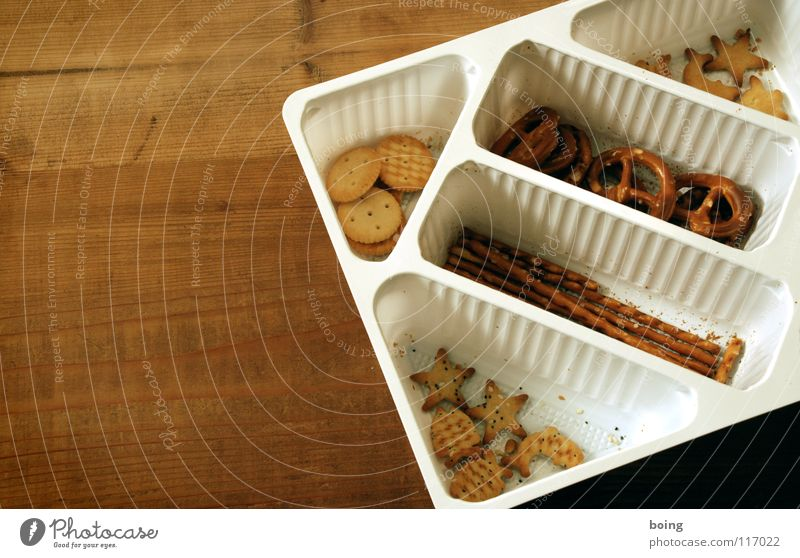 solid food E Savory snacks Salt stick Packing material Bird's-eye view Copy Space left Neutral Background Section of image Partially visible Salty