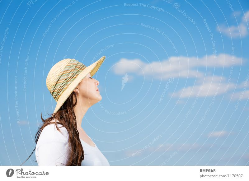Human being Woman Sky Vacation & Travel Beautiful Summer Sun Clouds Adults Feminine Style Happy Freedom Fashion Contentment Tourism