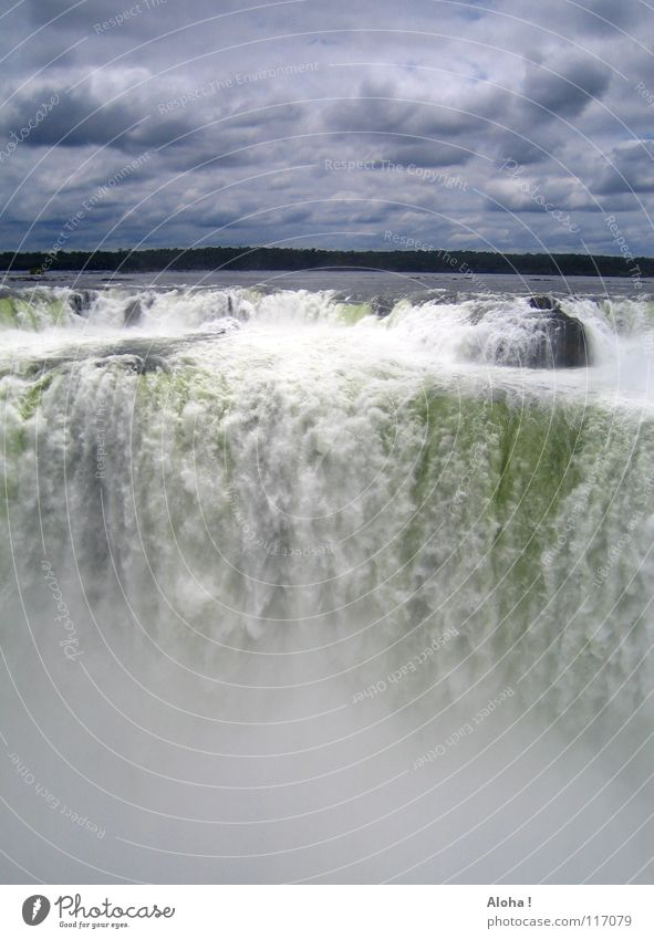 Afterwards wild water ... V Current Slope Brazil Argentina Art Torrents of water Plant Body of water Tourism Tree Clouds Horizon Drops of water Tourist