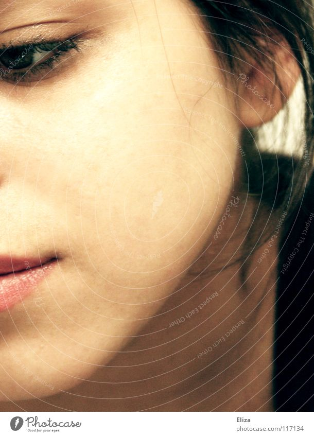 Woman Human being Adults Eyes Emotions Sadness Think Dream Mouth Skin Grief Lips Delicate Distress Dreamily Earnest