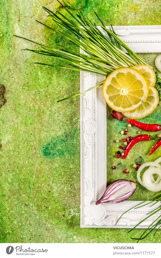 Fresh chives with chilli and lemon Food Herbs and spices Nutrition Lunch Dinner Organic produce Vegetarian diet Diet Design Summer Yellow Style
