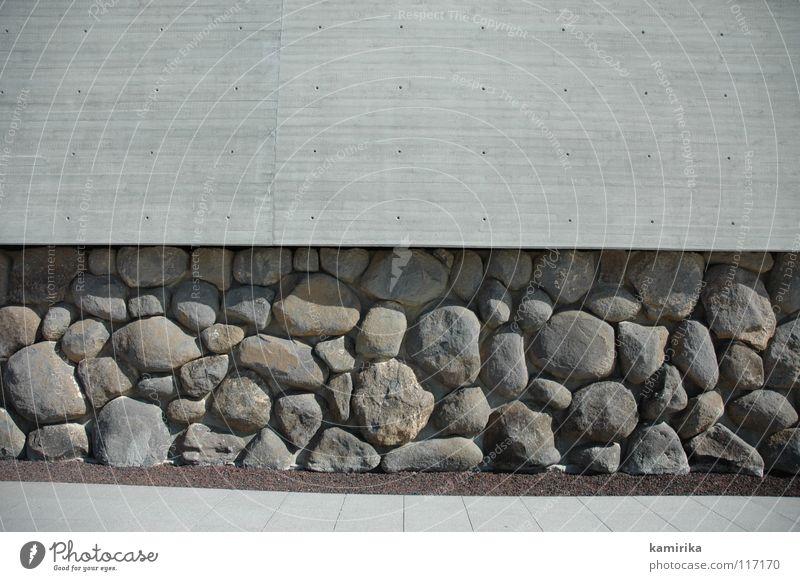 Wall (building) Stone Wall (barrier) Concrete Facade Modern Wallpaper Deep Sculpture Massive Dugout Foundations