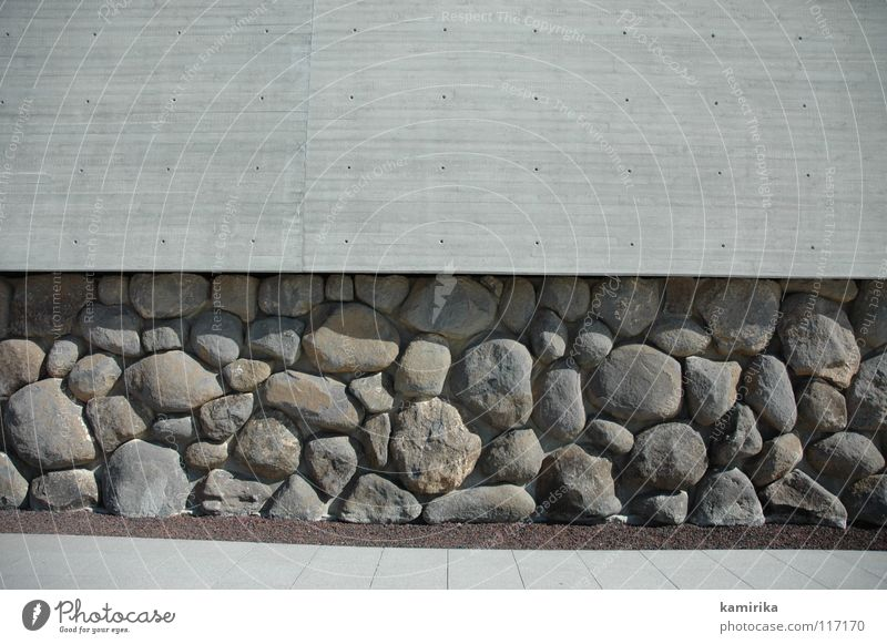 Wall (building) Stone Wall (barrier) Concrete Facade Modern Wallpaper Deep Sculpture Massive Dugout Foundations