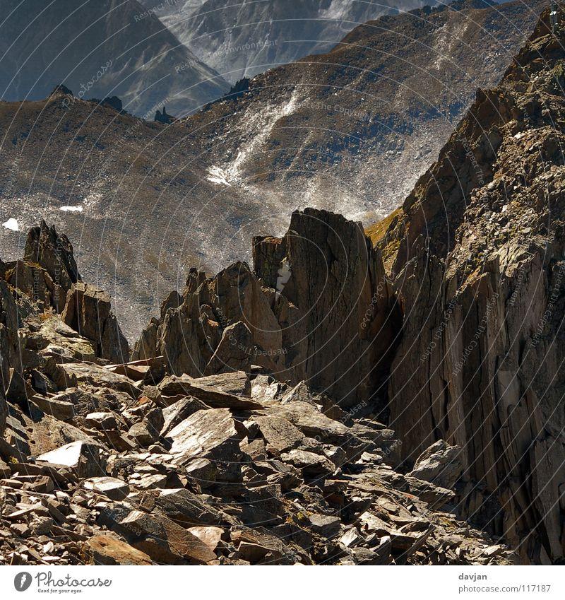 Mountain Stone Rock Broken Switzerland Alps Decline Shard