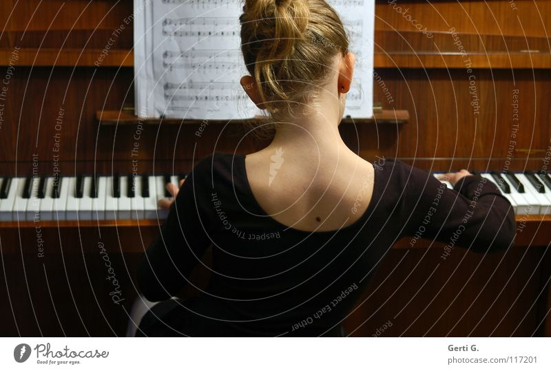 Child Hand Girl White Black Playing Music Wood Hair and hairstyles Skin Blonde Back Fingers Wing Make music Concert