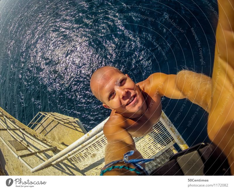 From the diving platform Leisure and hobbies Vacation & Travel Tourism Trip Adventure Far-off places Freedom Summer Summer vacation Sun Beach Ocean Island Waves