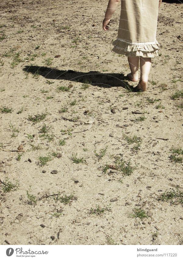 Child Girl Summer Joy Playing Grass Garden Wood Feet Lanes & trails Warmth Sand Legs Bright Blonde Arm