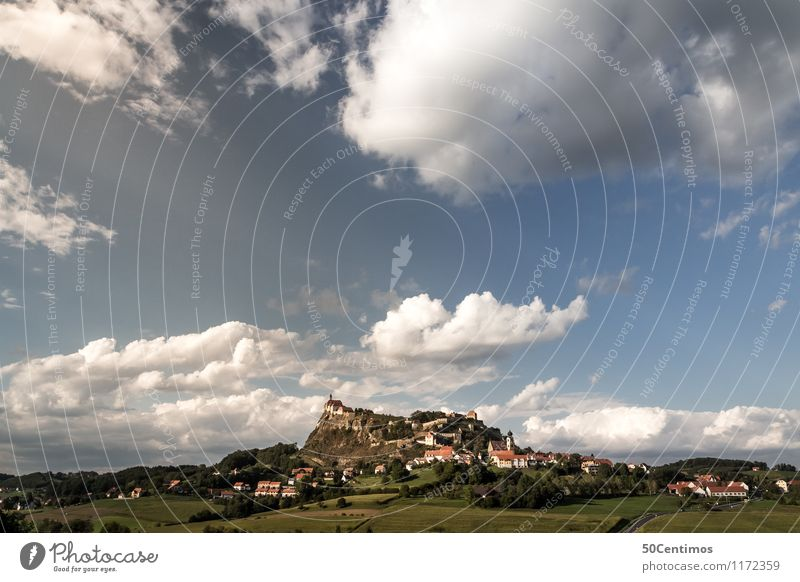 The Riegersburg Castle of Styria Vacation & Travel Tourism Trip Freedom Nature Landscape Sky Clouds Storm clouds Horizon Summer Climate Beautiful weather