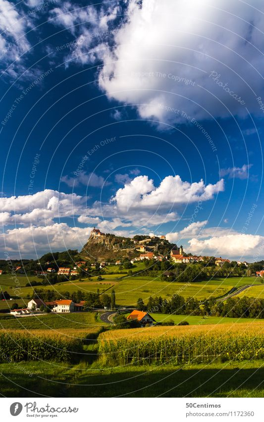 Riegersburg in southeast Styria Vacation & Travel Tourism Trip Adventure Freedom Cycling tour Summer Summer vacation Hiking Nature Landscape Clouds