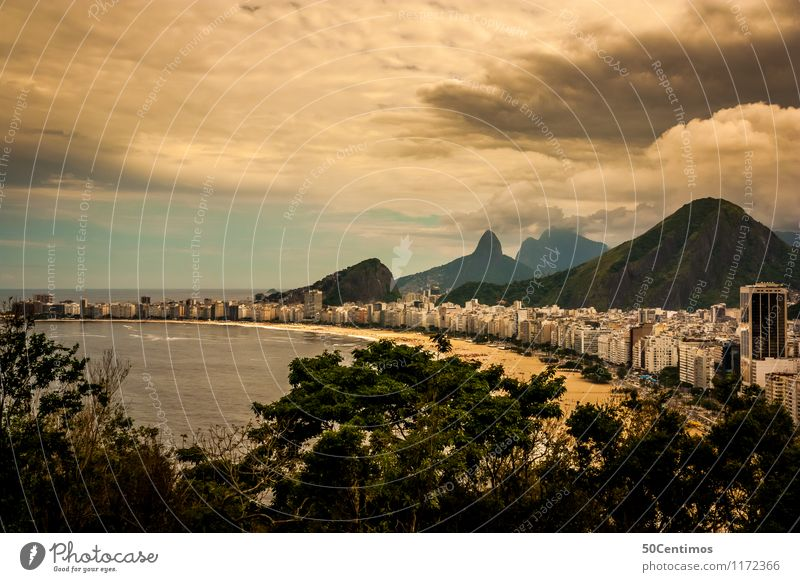 Copacabana in Rio de Janeiro Vacation & Travel Tourism Adventure Far-off places Freedom Sightseeing City trip Cruise Summer vacation Beach Ocean Waves Nature