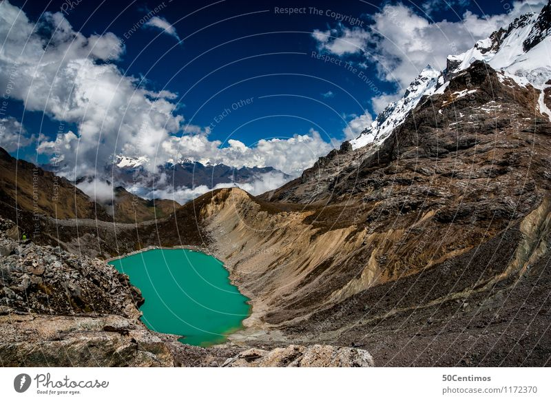 Mountain lake - tarn Leisure and hobbies Vacation & Travel Tourism Trip Adventure Far-off places Freedom Camping Winter Snow Winter vacation Mountaineering