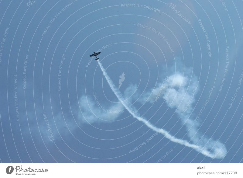 Sky Blue Joy Clouds Power Airplane Action Aviation Force Wing Event Smoke Sporting event Go up Sound Steep