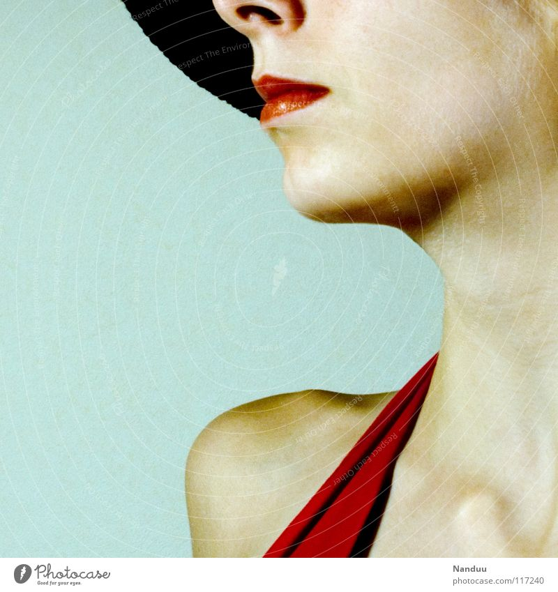 Woman Beautiful Red Feminine Style Fashion Bright Elegant Skin Success Lips Friendliness Media Lady Shoulder Doll