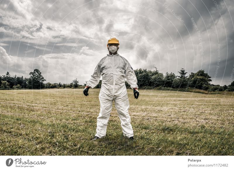 Worker standing on a field Intoxicant Home improvement Science & Research Laboratory Work and employment Profession Doctor Industry Human being Masculine Man