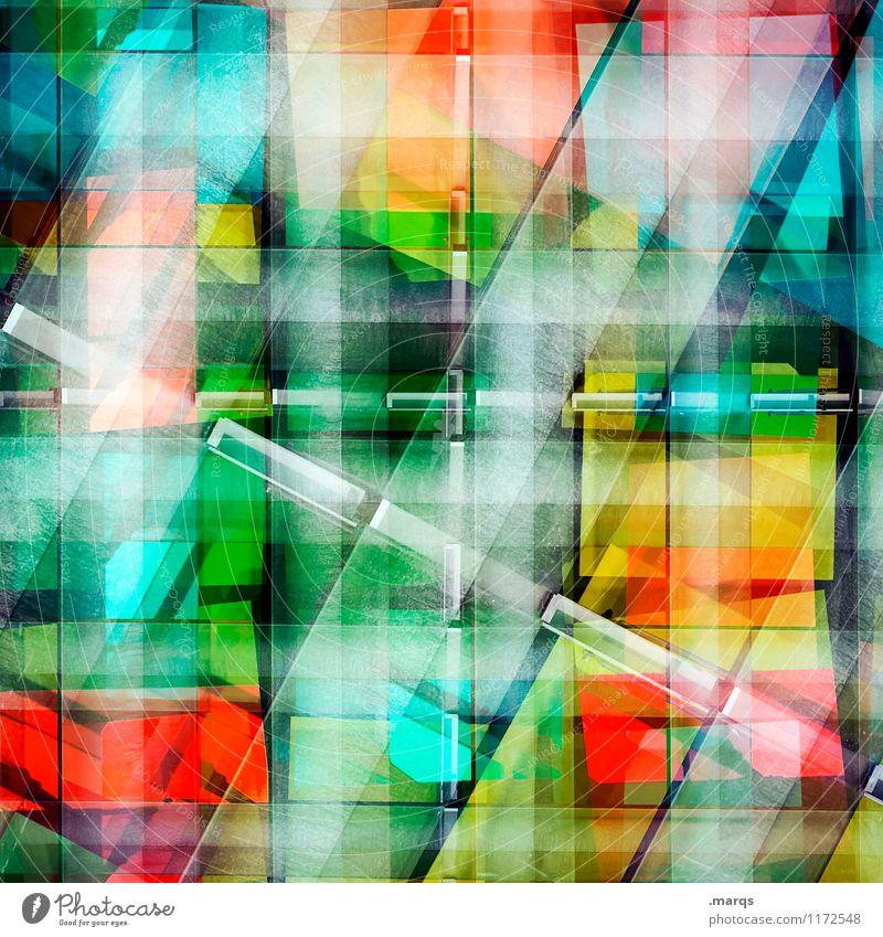 Multicoloured stripes Lifestyle Elegant Style Design Facade Plastic Line Stripe Esthetic Exceptional Cool (slang) Hip & trendy Uniqueness Modern Crazy Colour