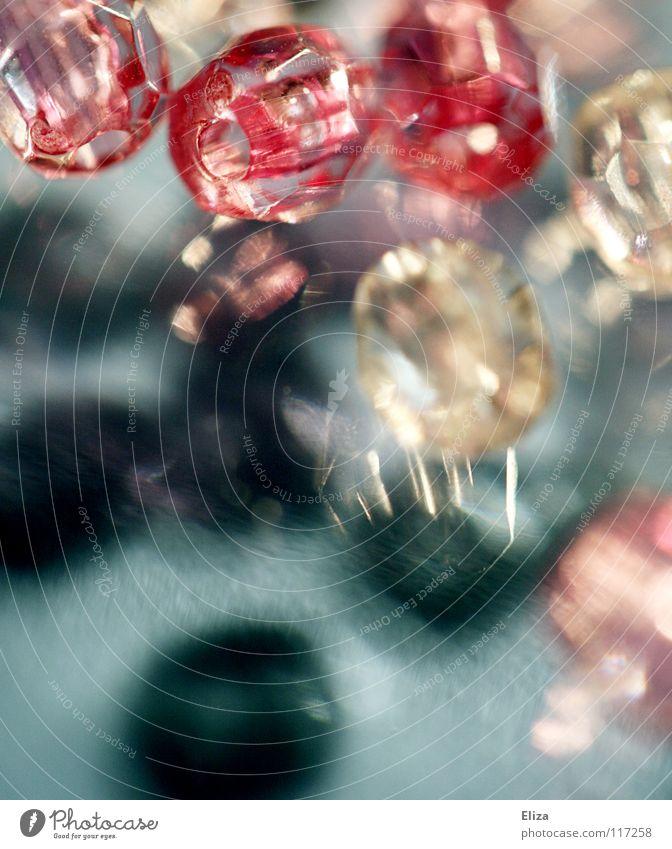 Beautiful Glass Pink Glittering Kitsch Jewellery Pearl Precious stone Handicraft Diamond Expensive Toys Barbie Glass bead