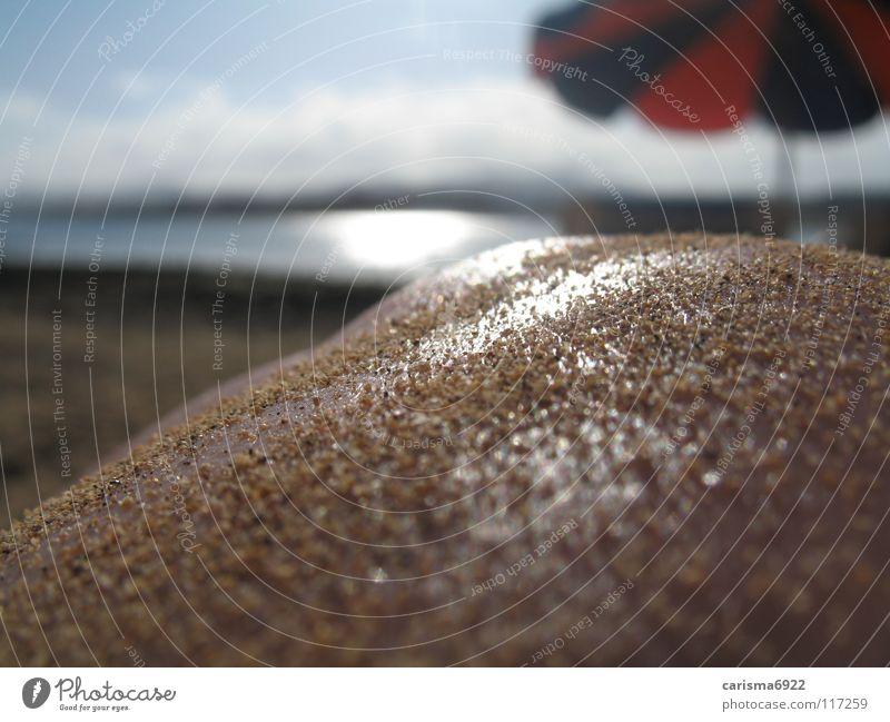 Human being Water Sun Ocean Summer Joy Beach Sand Skin Sunshade