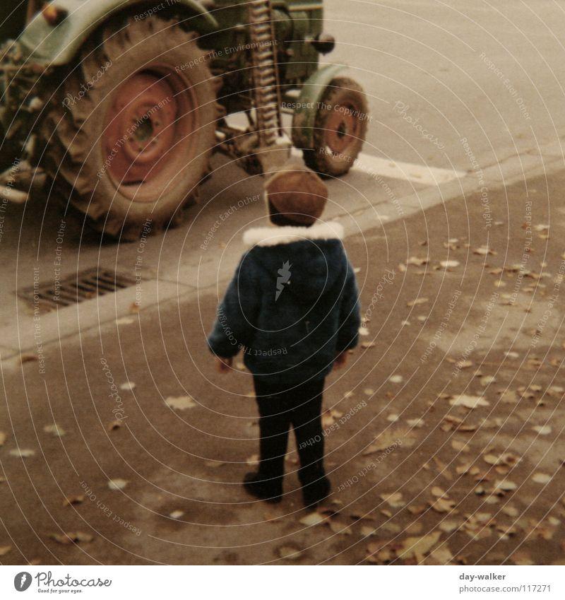Child Old Leaf Street Boy (child) Wait Walking Retro Driving Stand Asphalt Wheel Sidewalk Machinery Respect Seventies