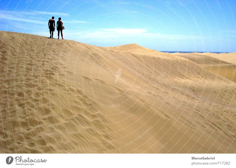 Ocean Beach Vacation & Travel Warmth Sand 2 Earth Physics Tracks Footprint Beach dune Blue sky