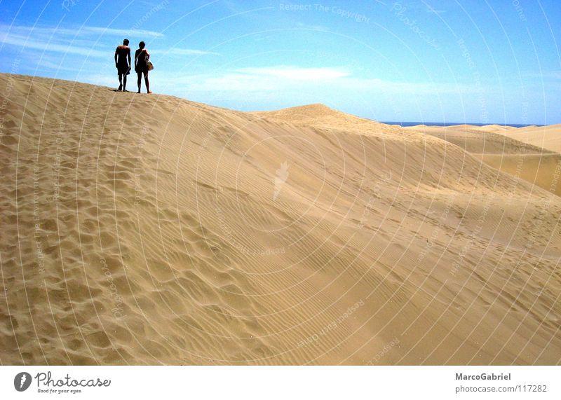 Ocean Beach Vacation & Travel Warmth Sand 2 Earth Physics Tracks Footprint Beach dune Blue sky
