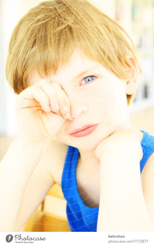 Human being Child Blue Beautiful Hand Face Eyes Boy (child) Hair and hairstyles Head Body Blonde Infancy Arm Skin Mouth